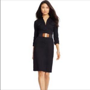 Lauren Ralph Lauren long sleeve solid shirt dress